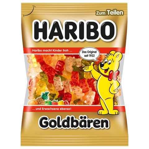 Haribo Assorted Fruit Flavors Goldbaren Gummies Product of Germany 200 g