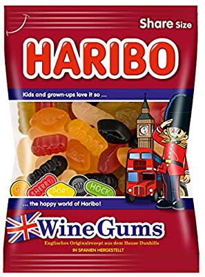 Haribo Wine Gummies From Original English Recipe From the Home Dunhills Product of Germany 200 g
