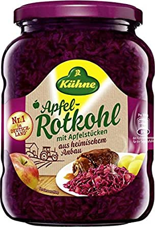 Kuhne Apfel Rotkohl (Red Cabbage with Apple) Product of Germany 25.2 oz