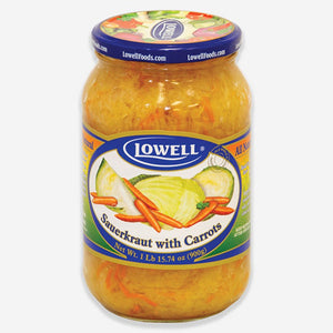 Lowell All Natural Sauerkraut with Carrots Product of Poland 880 g