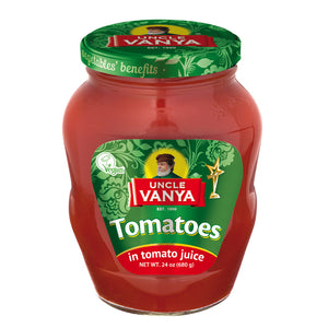 Uncle Vanya Tomatoes in Tomato Juice Product of Russia 24 oz