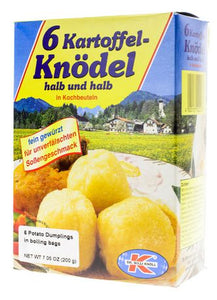 Dr. Willi Knoll 6 Potato Dumpling in Boiling Bags Product of Germany 7 oz
