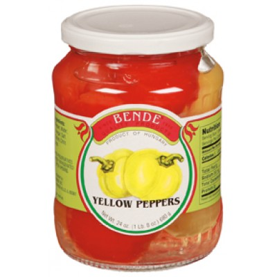 Bende Yellow Peppers Product of Hungary 1 lb 7 oz