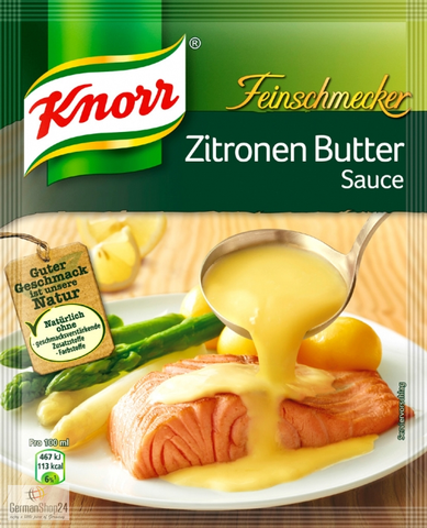 Knorr Feinschmecker Zitronen Butter Sauce (Lemon Butter Sauce) Product of Germany 52 g