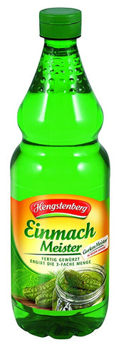 Hengstenberg Gerkin Preserving Vinegar Product of Germany 750 ml