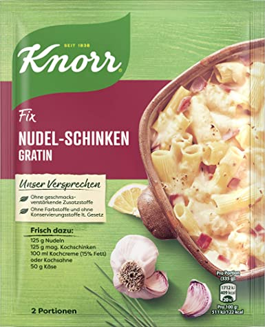 Knorr Fix Nudel-Schinken Gratin (Noodle - Ham Gratin) Product of Germany 28 g