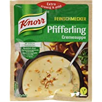 Knorr Pfifferling Cremesuppe mit Leckeren Pilz Stuckchen (Chanterelle Cream Soup with Mushroom Pieces) Product of Germany 56 g