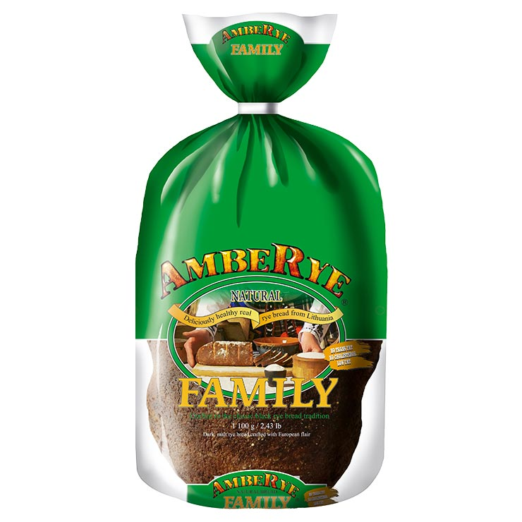 Ambe Rye Natural Family Crafted in the Classic Rye Bread Product of Lithuania 2.43 lb