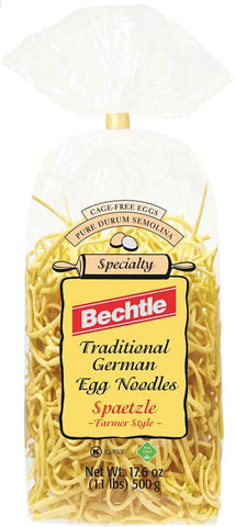 Bechtle Traditional German Egg Noodles Spaetzle Farmer Style Product of Germany 17.6 oz