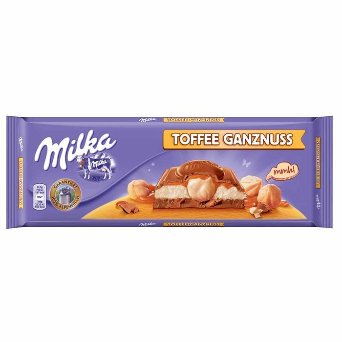 Milka Toffee Whole Nuts Product of Austria 10.5 oz
