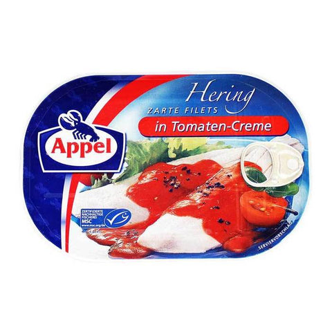 Appel Delicious Herring Fillets in Tomato Cream Sauce Product of Germany 7.05 oz