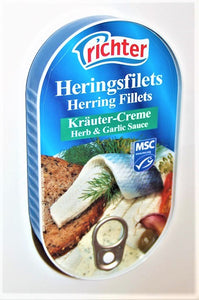 Richter Herring Fillets in Herbs and Garlic Sauce Product of Germany 200 g