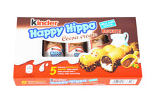 Load image into Gallery viewer, Kinder Happy Hippo Cocoa Cream Biscuits 5-Pack
