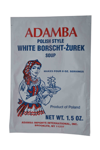Adamba White Borscht-Zurek Soup Sachet (Cream of Mushroom) Product of Poland 1.5 oz