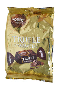 Wawel Trufle Z Wawelu (Chocolate Coated Candies with Rum Flavor) Product of Poland 12.34 oz