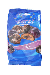 Krakus Gingerbread with Fruit Filling in Chocolate Plum Flavored Product of Poland 5.64 oz