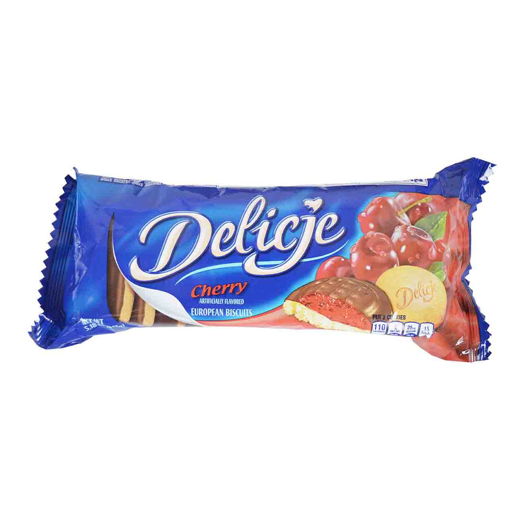 Delicje Cherry European Biscuits Product of Poland 5.18 oz