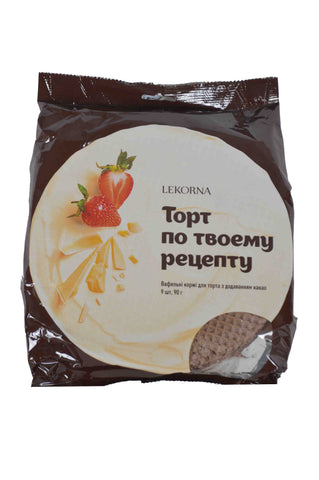Lekorna Topt No Tboemy Peyenty Strawberry (Wafer Sheets with Cocoa Powder) Product of Ukraine 3.17 oz
