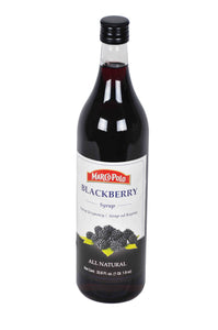 Marco Polo All Natural Blackberry syrup Product of Slovenia 33.8 oz