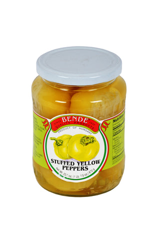 Bende Stuffed Yellow Peppers Product of Hungary 23.5 oz