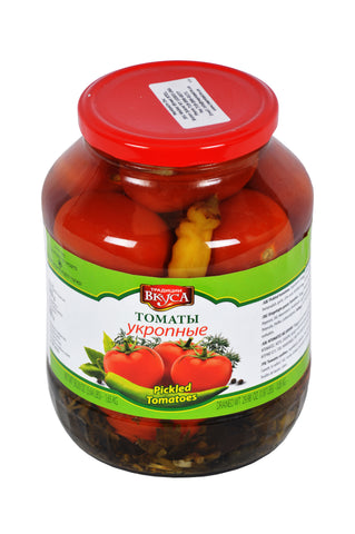 Traditziya Vkysa Tomatbi Pickled Tomatoes Product of Moldova 58.20 oz