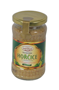 Interfood Original Horcice Kremzska (Sweet & Spicy Mustard) Product of Czech Republic 12 oz