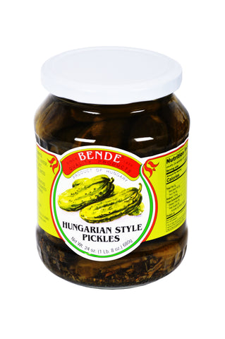 Bende Hungarian Style Pickles Product of Hungary 24 oz