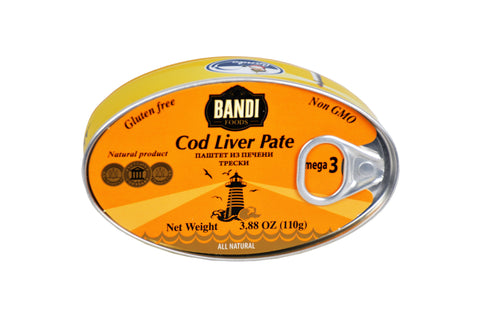 Bandi Foods Cod Liver Pate Product of Latvia 3.88 oz