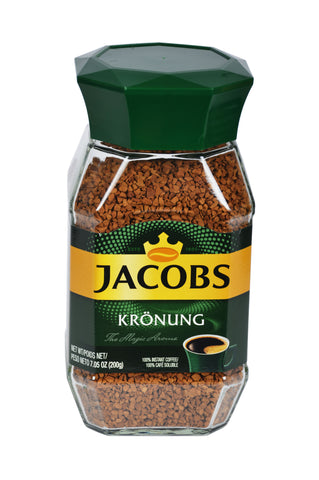 Jacobs Kronung Instant Coffee Product of Germany 7.05 oz