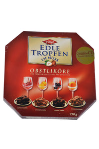 Trumpf Edle Tropfen in Nuss Obstliköre (Liqueur-filled Pralines with Nuts) Product of Germany 250 g