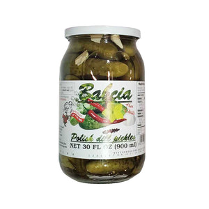 Babcia Hot Chilli Polish Dill Pickles Product of Poland 30 oz