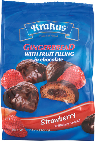 Krakus, Gingerbraed with Fruit Filling in Chocolate