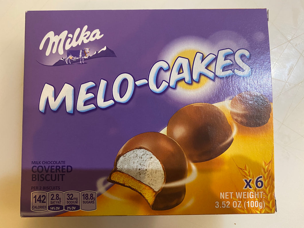 Milka Melo-Cakes Milk Chocolate Covered Biscuit Product of Poland 3.52 oz