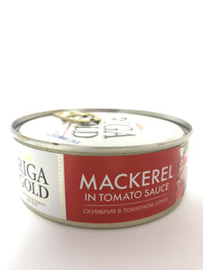 Riga Gold Mackerel in Tomato Sauce Product of Latvia 8.47 oz