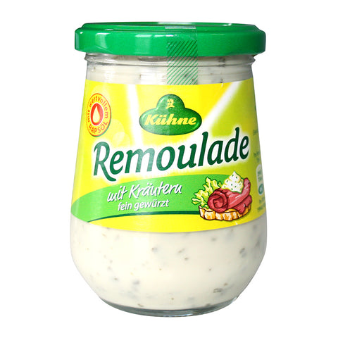 Kuhne Remoulade Mit Krautern Tartar Sauce with Herbs Product of Germany 8.75 oz