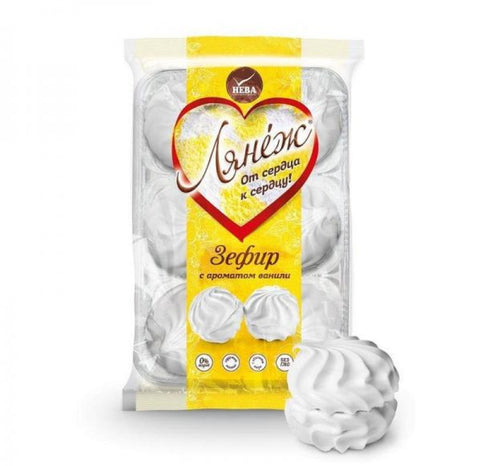 Neva Lanej Marshmallow with Vanilla Flavor Product of Russia 14.82 oz