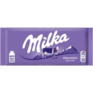 Milka Alpenmilch Alpine Milk Product of Germany 3.52 oz