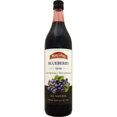 Marco Polo All Natural Blueberry Syrup Product of Slovenia 33.8 oz