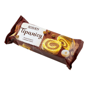 Roshen Biscuit Roll with Tiramisu Flavor Product of Ukraine 6.35 oz