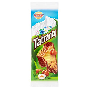 Sedita Tatranky (Crispy Wafer with Creamy Hazelnut Filling) Chocolate Bar Product of Slovakia 45 g