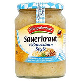 Hengstenberg Sauerkraut Bavarian Style with Wine Product of Germany 24 oz