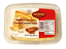 Load image into Gallery viewer, Achva Vanilla & Chocolate Flavored Sesame Halva Product of Israel 16 oz