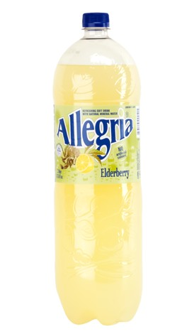 Allegria Refreshing Soft Drink Elderberry Flavor Product of Romania 67.6 oz