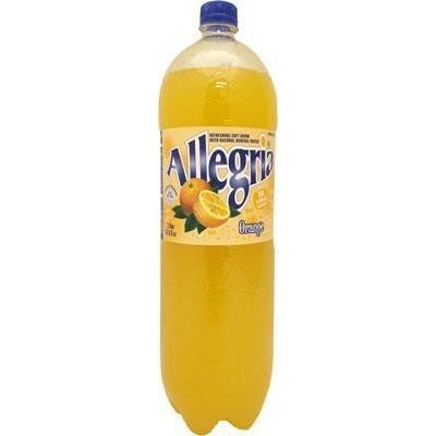 Allegria Refreshing Soft Drink Orange Flavor Product of Romania 67.6 oz