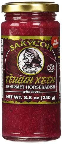 Zakuson Gourmet Horseradish with Beets Product of Canada 8.8 oz