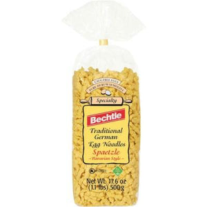 Bechtle Traditional German Egg Noodles Spaetzle Bavarian Style Product of Germany 17.6 oz