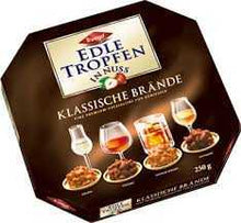 Load image into Gallery viewer, Trumpf Edle Tropfen in Nuss Klassische Brände (Classic Liqueur-filled Pralines with Nuts) Product of Germany 250 g