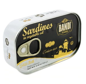 Bandi Foods Sardines in Vegetable Oil Product of Morocco 4.41 oz