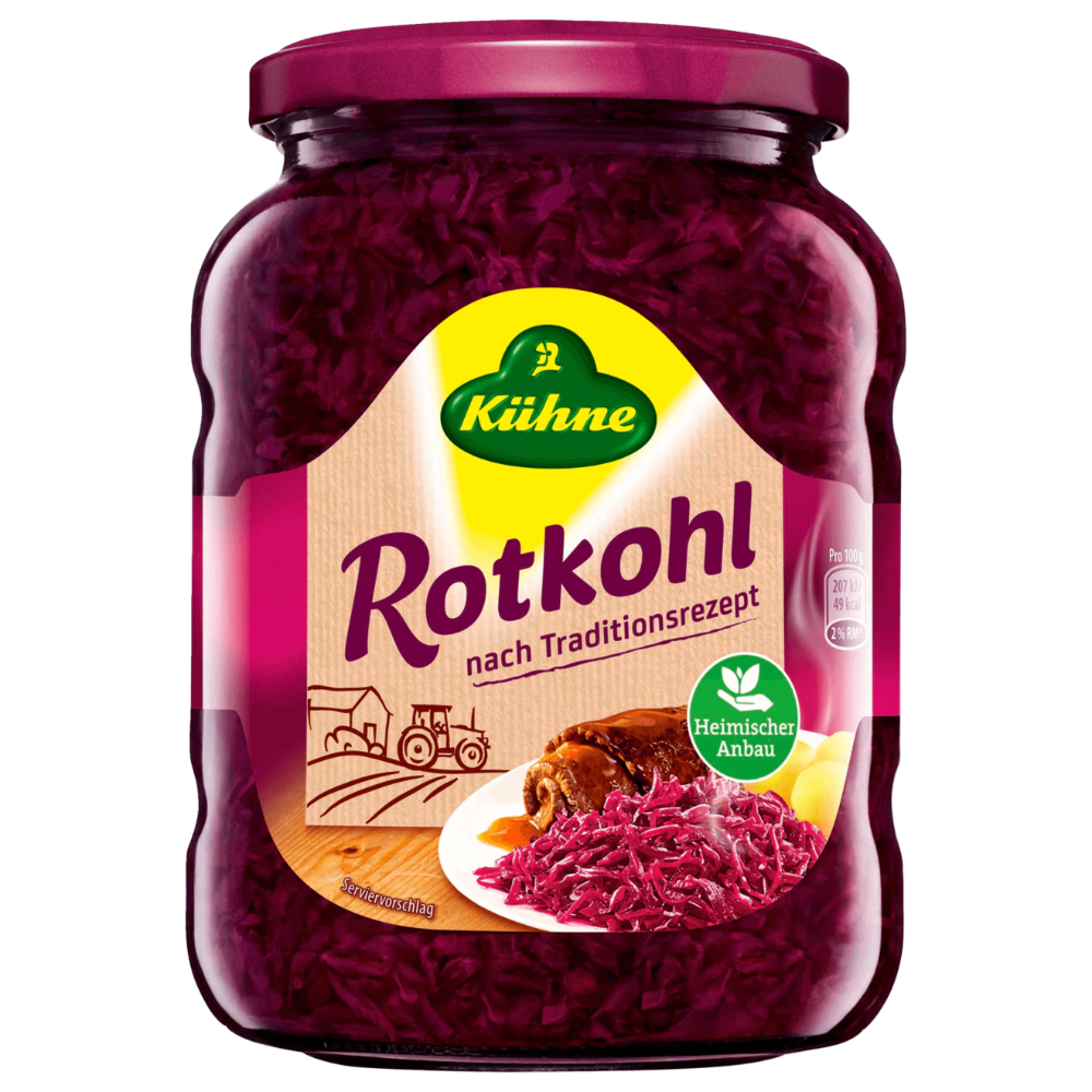 Kühne Rotkohl Nach Traditionsrezept Red Cabbage Product of Germany 24.3 oz