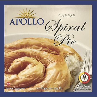 Apollo Cheese Spiral Pie 30 oz